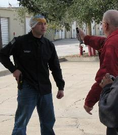 Donnie Surat from Texas Handgun trains Students in his course for Bodyguards in Texas.